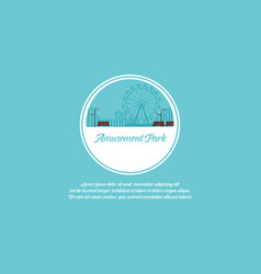 art amusement park background vector image
