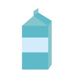 blank label milk carton icon image vector image vector image