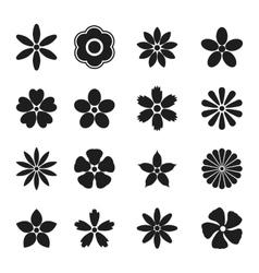 Flower bud set vector