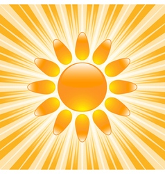 Glossy sun icon vector image