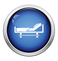 Hospital bed icon vector image