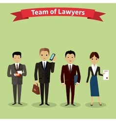 Lawyers Team People Group Flat Style vector image vector image