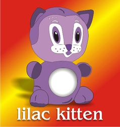lilac kitten vector image