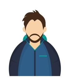 man with winter jacket icon vector image vector image