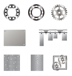 metal elements vector image