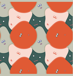 pattern funny faces vector image
