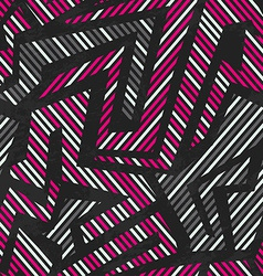 Pink tribal geometric seamless pattern vector