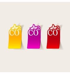Realistic design element co2 sign dioxide vector