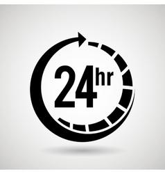 Service 24 hours design vector