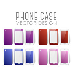 Set of phone cases vector