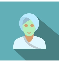 Spa facial clay mask flat icon vector image vector image