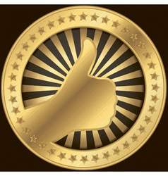 Thumbs Up Badge vector image vector image