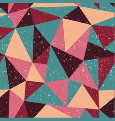 triangle seamless pattern with grunge effect vector image vector image
