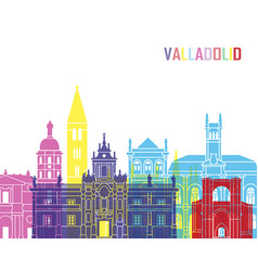 Valladolid skyline pop vector