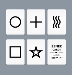 Zener cards vector