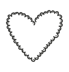 Heart monochrome love icon vector