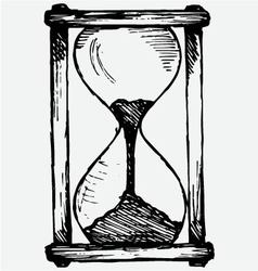 Hourglass sketch vector