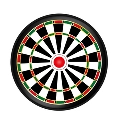 Dart board game vector image