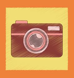 flat shading style icon camera vector image