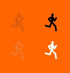 Running man - stick icon vector