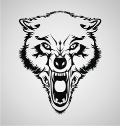 Angry Wolf Head vector image