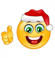 Christmas emoticon vector