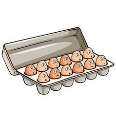 A dozen of eggs vector