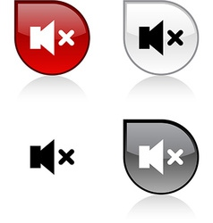 Mute button vector