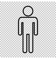 Man sign line icon vector