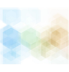 abstract geometric background blue hexagon vector image vector image