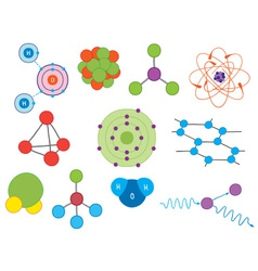 atoms and molecules vector image