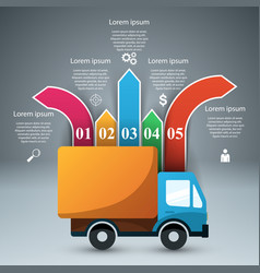 Car infographic design template and marketing vector