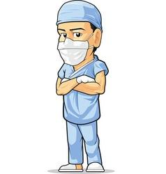 Cartoon of surgeon vector