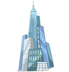 cartoon skyscraper vector image vector image
