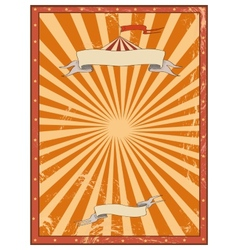 Circus red vintage background for a poster vector image vector image