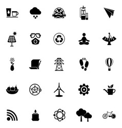 Clean concept icons on white background vector
