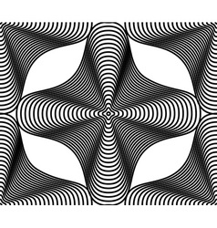 Continuous pattern with black graphic lines vector image