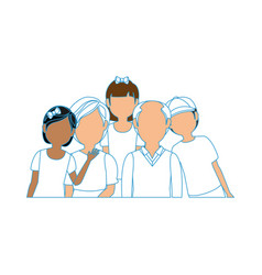Family grandparents grandchildren vector