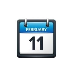 February 11 calendar icon vector