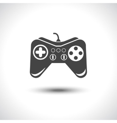 Gambling games joystick black reflection icon vector image