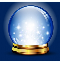 holiday globe vector image