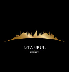 istanbul turkey city skyline silhouette black vector image vector image