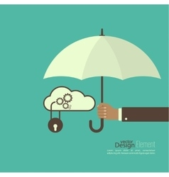 Male hand holding an umbrella vector image vector image