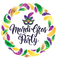 Mardi gras mask colorful poster banner template vector