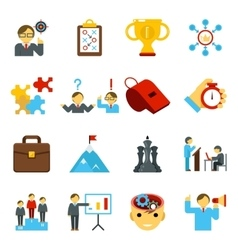 Mentoring and training flat icons skills coaching vector