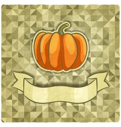 pumpkin on geometric background vector image vector image