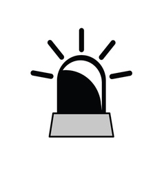 rotating beacon vector image