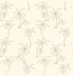 Seamless tropical palms pattern vector