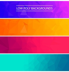 Set of low poly backgroundsDesign elements in vector image vector image