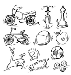 Set of sport icon vector image vector image